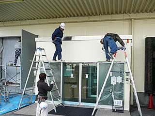壁面箱文字看板の施工事例