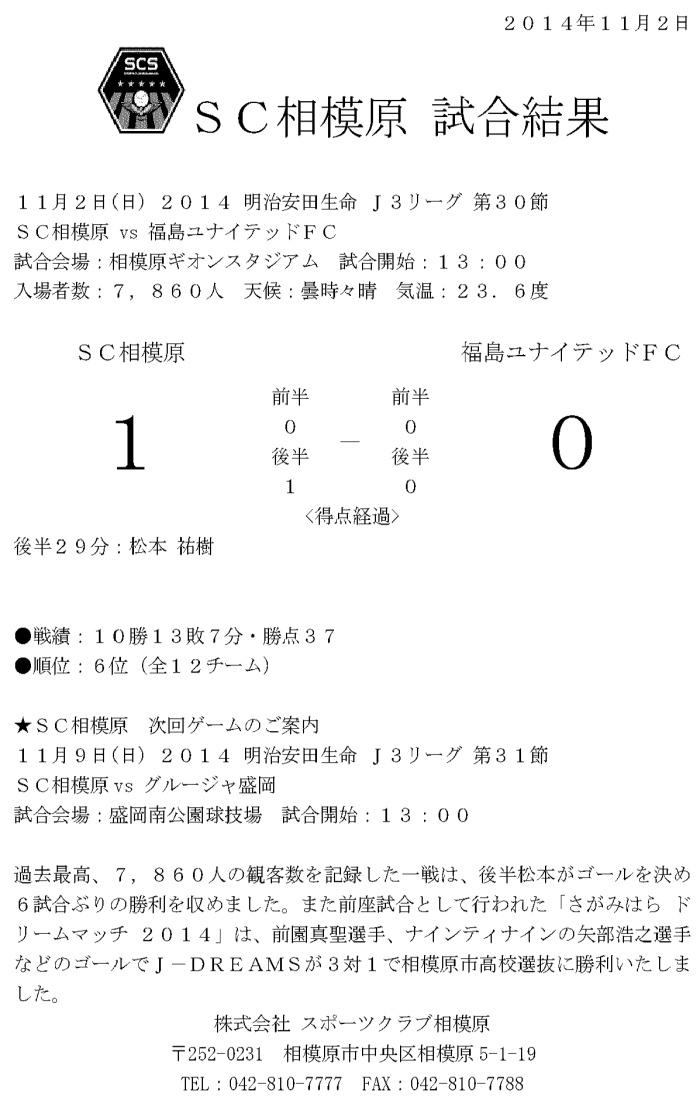 11.2試合結果